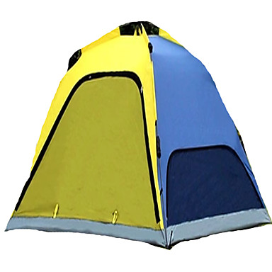 CAMEL 3-4 persons Tent Single Camping Tent One Room Automatic Tent Ventilation Dust Proof Foldable for Camping / Hiking 2000-3000 mm