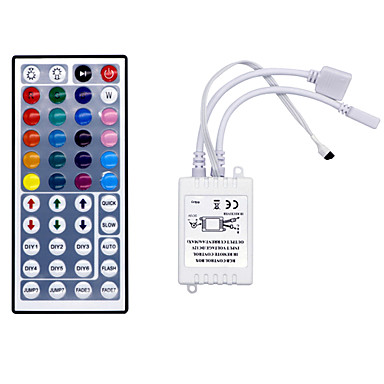 preiswerte Beleuchtungszubehör-hkv® 44 schlüssel ir fernbedienung rgb led dimmer für led-streifen lampe licht mini rgb controller