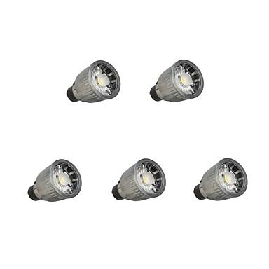 5pcs 7W 780lm GU10 LED szpotlámpák 1 LED gyöngyök COB Tompítható Meleg fehér / Hideg fehér 110-220V