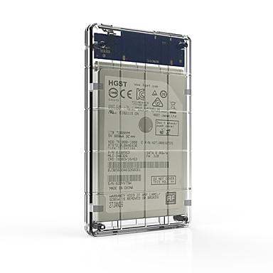 Setehds2160-c 2,5-tommers transparent usb3.0 mobil harddiskboks for ssd og harddisk