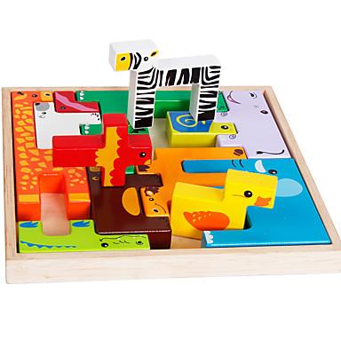 Blocos de Construir Jogos de Madeira Modelos de madeira Brinquedo Educativo Quadrada Legal Crianças Brinquedos Dom