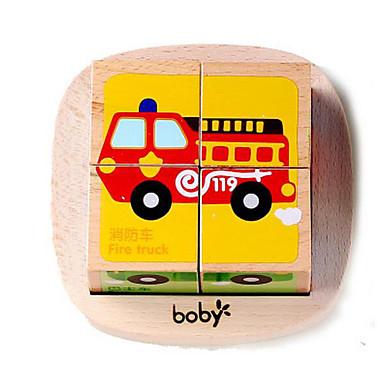 Blocos de Construir Quebra-Cabeça Jogos de Madeira Brinquedo Educativo Brinquedos Quadrada 3D De madeira Crianças Peças