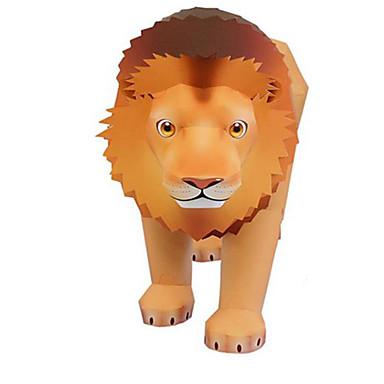 3D palapeli Paperimalli Pienoismallisetit Lelut Neliö Leijona Eläimet DIY Kova kartonki Ei määritelty Pieces