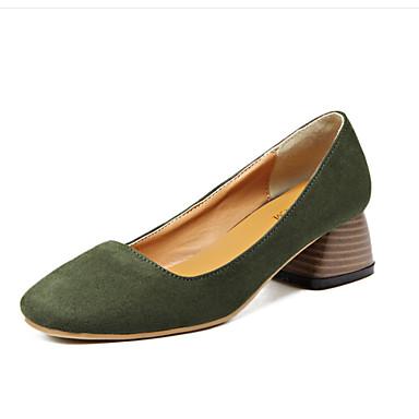 Naiset Kengät PU Kevät Comfort Mokkasiinit Käyttötarkoitus Kausaliteetti Musta Vihreä Manteli