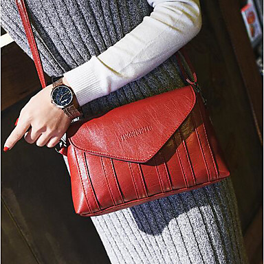 Women's Bags PU Crossbody Bag for Casual Outdoor All Seasons Green Black Red