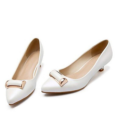 Women's Shoes PU Spring Basic Pump Heels For Casual Gold White Blushing Pink
