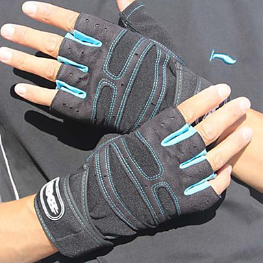 Sports Gloves Unisex Cycling Gloves Spring Summer Bike Gloves Wearable Breathable Protective Durable Sweat-Wicking Fingerless Gloves Cloth