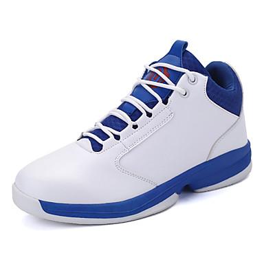 Homens sapatos Couro Ecológico Inverno Conforto Tênis Basquete Combinação para Casual Branco Preto Vermelho
