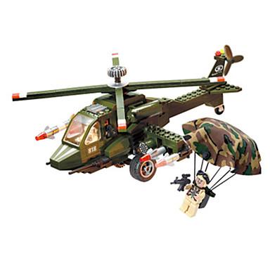 Blocos de Construir Bonecos em Blocos de Montar Brinquedos de Montar Quadrada Tanque Aeronave Helicóptero Helicóptero Para Meninos Unisexo