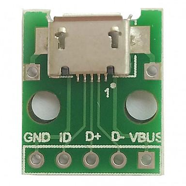 Micro usb til dip (2,54mm) kvinnelig b-type mikrofon chip adapter kort