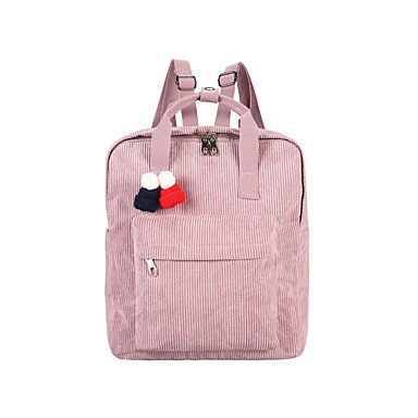 Women's Bags Suede Backpack for Casual Office & Career All Seasons Blue Black Blushing Pink Gray Coffee