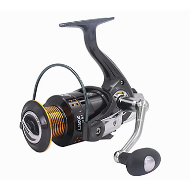 Fishing Reel Bearing Spinning Reel 5.2:1 Gear Ratio+13 Ball Bearings Hand Orientation Exchangable Sea Fishing Freshwater Fishing Trolling