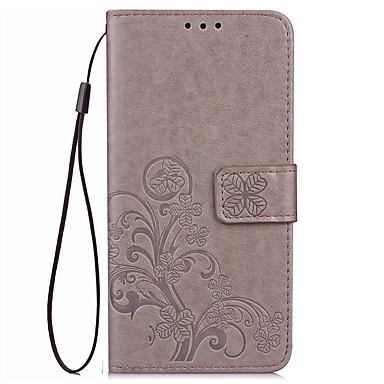 Capinha Para Huawei Honor 7 Huawei Honor V8 Huawei Porta-Cartão Carteira Com Suporte Flip Com Relevo Capa Proteção Completa Côr Sólida