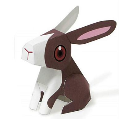 voordelige 3D-puzzels-3D-puzzels Bouwplaat Modelbouwsets Rabbit Dieren DHZ Simulatie Klassiek Kinderen Unisex Speeltjes Geschenk