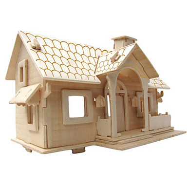 Quebra-Cabeças 3D Quebra-Cabeça Brinquedos de Montar Construções Famosas Faça Você Mesmo Madeira Natural Clássico Crianças Unisexo Dom