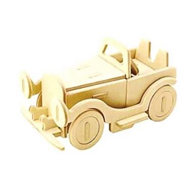 3D Puzzles Jigsaw Puzzle Wood Model Car 3D Animals DIY Wood Natural Wood Unisex Gift