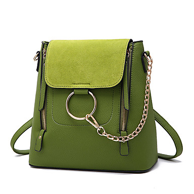 Women Bags Spring/Fall All Seasons PU Shoulder Bag with Pleated Ruffles Chain for Wedding Event/Party Casual Formal Outdoor Office &