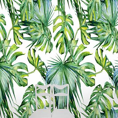 billige Tapet-tropisk stor skilpadde blader egendefinert 3d stor veggdekorasjon veggmaleri tapet egnet restaurant tv bakgrunnsblade