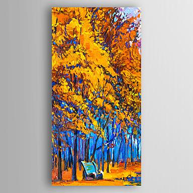 Pintados à mão Paisagem Vertical, Abstracto Tela de pintura Pintura a Óleo Decoração para casa 1 Painel