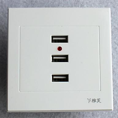tipo 86 usb * 3 fonte de alimentação branco acessório de iluminação de alta qualidade