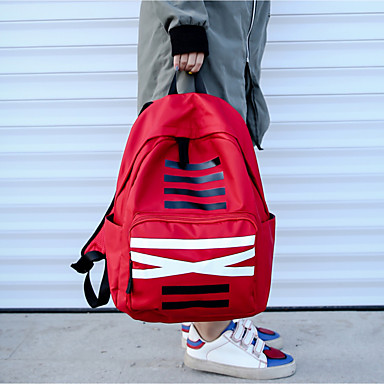 Unisex Bags Oxford Cloth Backpack for Casual Black / Red / Gray