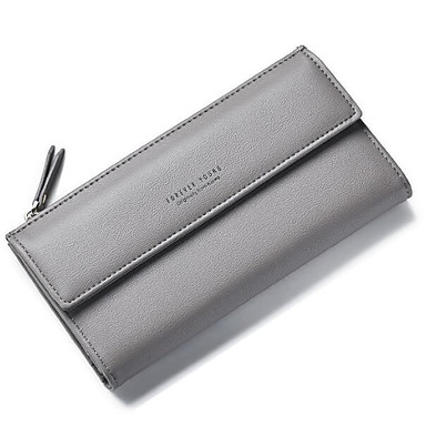 Women Coin Purse PU Polyester All Seasons Casual Outdoor Rectangle Without Zipper Black Blushing Pink Gray