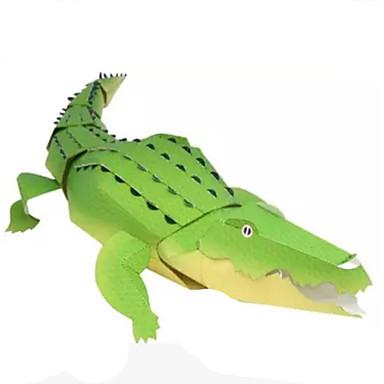 Quebra-Cabeças 3D Maquetes de Papel Artesanato de Papel Brinquedos de Montar Crocodilo Animais Faça Você Mesmo Clássico Crianças Unisexo