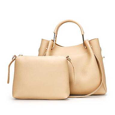 Női Táskák PU táska szettek mert Esküvő / Party / Előírásos Arcpír rózsaszín / Szürke / Khakizöld