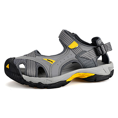 Unisex Shoes Suede Summer Fall Comfort Light Soles Sandals Upstream Shoes Flat Heel Open Toe Magic Tape For Casual Outdoor Office & Career