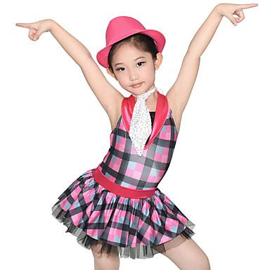 Danseklær til barn / Jazz Kjoler Dame Ytelse Spandex / Tyll / Paljetter Niveauer / Drapert / Strå Ermeløs Naturlig Kjole / Shorts / Hatt / Kostymer til heialeder / Moderne Dans / Oppvisning