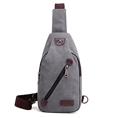 Men's Bags Canvas Sling Shoulder Bag for Casual Spring All Seasons Black Gray Coffee Brown