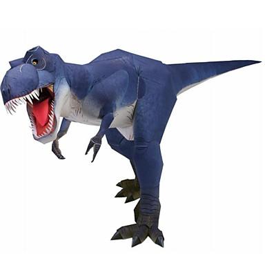 voordelige 3D-puzzels-3D-puzzels Bouwplaat Modelbouwsets Tyrannosaurus Dinosaurus DHZ Simulatie Hard Kaart Paper Klassiek Kinderen Unisex Jongens Speeltjes Geschenk