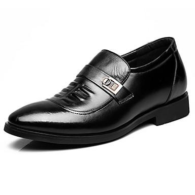 Miehet Oxford-kengät muodollinen Kengät Kevät Syksy Nahka Kausaliteetti Musta Alle 1in