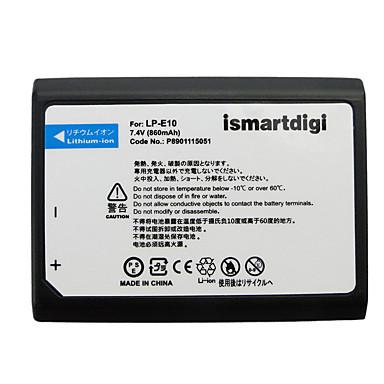 Ismartdigi LPE10 7.4V 860mAh Camera Battery for Canon EOS 1100D 1200D 1300D X50 T3