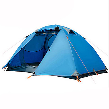 BSwolf 2 persons Tent Double Camping Tent One Room Fold Tent Waterproof Rain-Proof Dust Proof Foldable for Camping / Hiking 2000-3000 mm