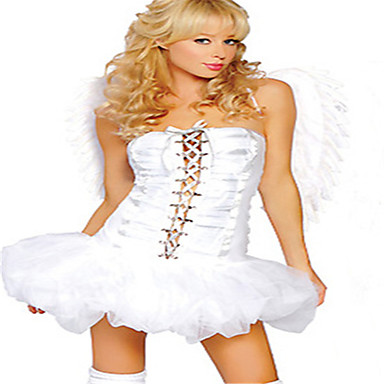 Queen Goddess Angel/Devil Cosplay Cosplay Costumes Party Costume Festival/Holiday Halloween Costumes White Halloween Carnival Others