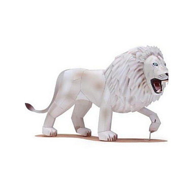 3D Puzzles Jigsaw Puzzle Model Building Kits Paper Craft Toys Lion Animal 3D Animals DIY Furnishing Articles Unisex Pieces