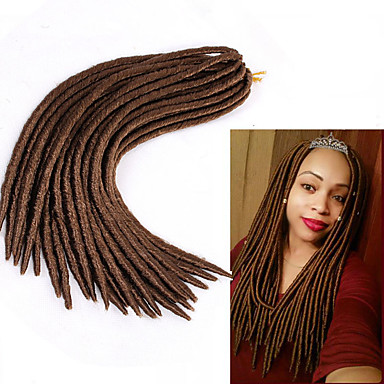 Crochet Crochet Faux Dreads Dreads Locs Dreadlock Extensions 100% kanekalon hair Dreadlocks/Faux Locs Hair Braids