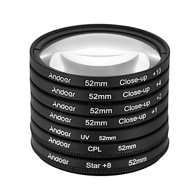 Andoer 52mm uv cpl star8close-up (1 2 4 10) fotofilter ultrafiolett sirkulærpolariserende stjerne 8-punkts makro nærbilde objektivfilter