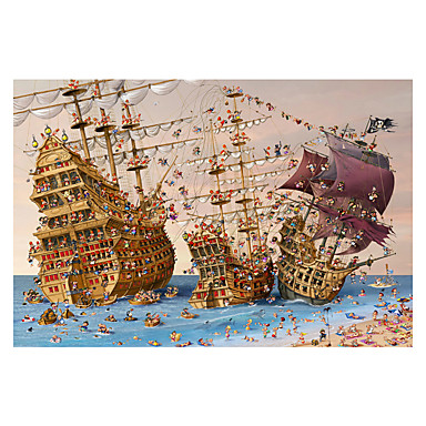 Jigsaw Puzzle Toys Ship Wooden Wood Unisex Adults' Pieces