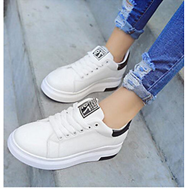 Women's Shoes PU Spring Comfort Sneakers For Casual White Black Blushing Pink