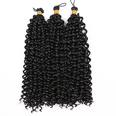 3 Pieces Water Wave Curly Hair Braids Crochet Ombre Synthetic Hair 14
