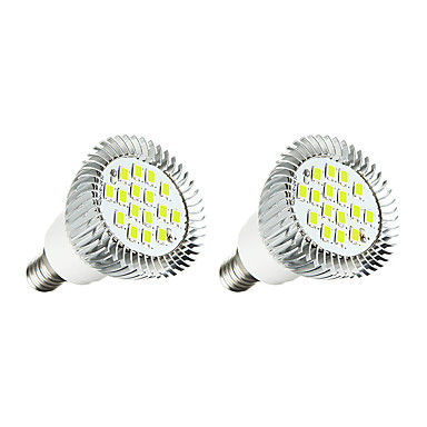 2szt 5W 380 lm E14 Żarówki punktowe LED E14 / E12 16 Diody lED SMD 5630 LED Light Biały AC 85-265V