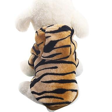 Perro Disfraces Abrigos Saco y Capucha Ropa para Perro Animal Marrón Franela Disfraz Para Primavera & Otoño Invierno Hombre Mujer Fiesta Cosplay Moda