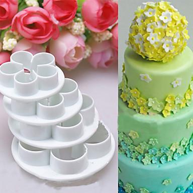 4Pcs/Set Rose Flower Cake decorating tools Cupcake Kitchen fondant Kitchen accessories Cake mold Stand cozinha cookie cutter