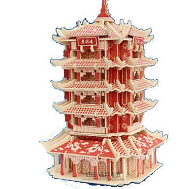 3D-puslespill Puslespill Tremodeller Modellsett Rektangulær Borg Kjent bygning Arkitektur 3D Tre Naturlig Tre Voksne Unisex Gave
