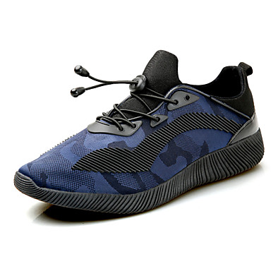 Homens sapatos Couro Ecológico Primavera Outono Conforto Tênis Caminhada Cadarço para Atlético Branco/Preto Preto/Vermelho Black / azul