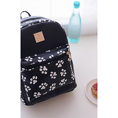 Women Bags PU Backpack for Casual All Seasons White Black