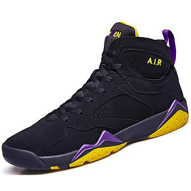 Unisex Shoes Synthetic Fall Winter Comfort Athletic Shoes Basketball Shoes for Athletic Casual Outdoor Black Light Purple