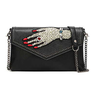 Women Bags PU Crossbody Bag for Event/Party Casual Outdoor All Seasons Black